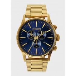 Reloj Nixon Sentry Crono Gold Blue Sunray - REF. A3861922