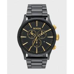 Reloj Nixon Sentry Chrono Matte Black/Gold - REF. A3861041