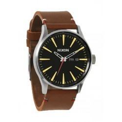 Reloj Nixon Sentry Leather Black / Brown - REF. A105019
