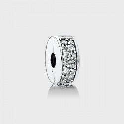 Abalorio Pandora clip plata 925 pavé circonita - REF. 791817CZ
