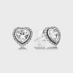 Pendientes Pandora plata 925 corazón - REF. 290568CZ