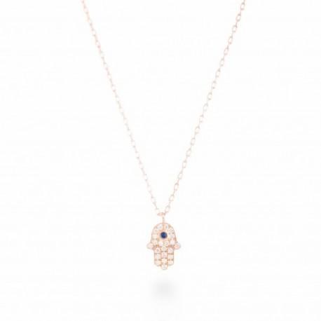 Gargantilla Luxenter Fátima plata rosa 925 - REF. PH037R0000