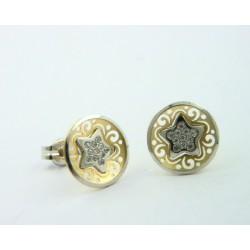 Pendientes oro blanco y amarillo 750 - REF. LV-643092/PE