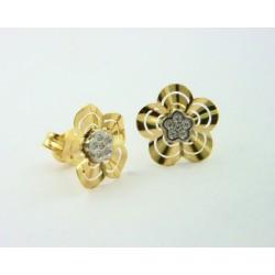 Pendientes oro 750 blanco y amarillo - REF. LV-643522/PE