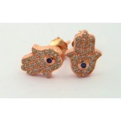 Pendientes Luxenter Fatima plata rosa 925 - REF. EH084R0000