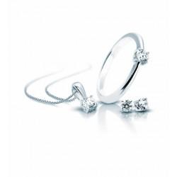 Set de pendientes, anillo y gargantilla DiamonFire - REF. 1312001904185