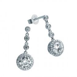Pendientes DiamonFire plata 925 con circonitas - REF. 6214631082
