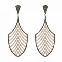 Pendientes Luxenter plata rosa 925 Regy - REF. EQ064R0100