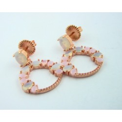 Pendientes plata rosa 925 - REF. 236A0001