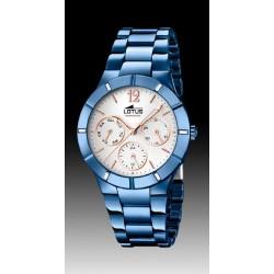 Reloj Lotus para señora acabado IP azul - REF. L18250/1