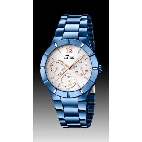 c8f0684ffb36 Reloj Lotus para señora acabado IP azul - REF. L18250 1 - Joyería Manjón