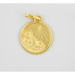Medalla oro 750 Niño entre Pajas - REF. AR-126048014ME