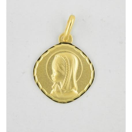 9baa677c9734 Medalla oro 750 Virgen Niña - REF. AR-1600104N04 - Joyería Manjón
