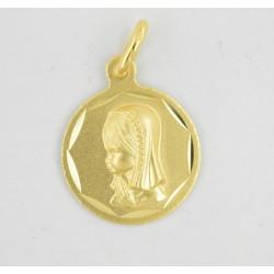 Medalla oro 750 Virgen Niña - REF. AR-130010415ME