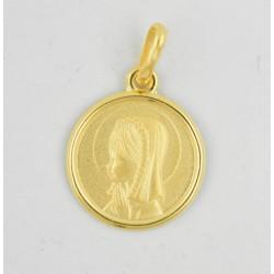 Medalla oro 750 Virgen Niña - REF. AR-126010414ME