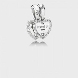 Abalorio Pandora plata 925 ¨Mejores amigos¨ - REF. 792147CZ