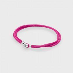 Pulsera Pandora Moments S2 cordón rosa - REF. 590749CPH