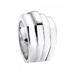 Anillo Durán Exquse Hexagone plata 925 talla 14 - REF. 00506612