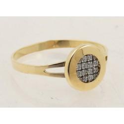 Anillo oro 750 con circonitas - REF. GA-HRO1692