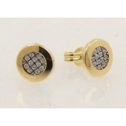 Pendientes oro 750 con circonitas - REF. GA-FRO1692
