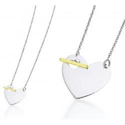 Gargantilla corazón oro blanco 750 - REF. GD032OB.00