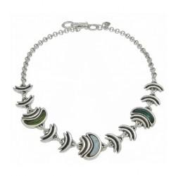 Collar Ciclón plateada - REF. 181802-51