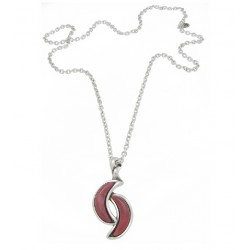 Collar Ciclón plateada - REF. 181808-11