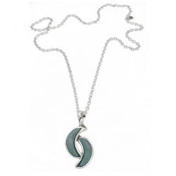 Collar Ciclón plateada - REF. 181808-51