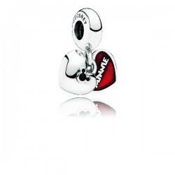 Abalorio Pandora plata 925 Mickey & Minnie - REF. 791441NCK