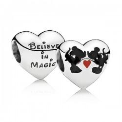 Abalorio Pandora plata 925 Beso de Mickey & Minnie - REF. 791443ENMX