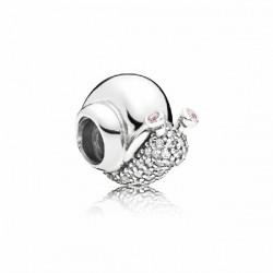 Abalorio Pandora plata 925 Caracol Brillante - REF. 797063CZ