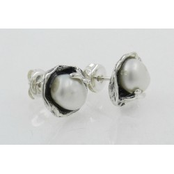 Pendientes La Perionda plata 925 y perla - REF. 0722P