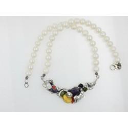 Gargantilla La Perionda plata 925 con perlas - REF. 0285