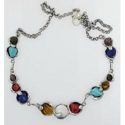 Collar La Perionda plata 925 y piedras naturales - REF. 0989