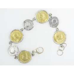 Pulsera La Perionda plata 925 y bronce - REF. 0931O