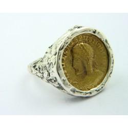 Anillo La Perionda plata 925 y bronce, talla 17 - REF. 0934O
