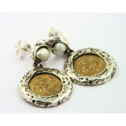 Pendientes La Perionda plata 925 y bronce - REF. 1021O