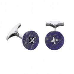 Gemelos Duran Exquse Button Lapis plata 925 - REF. 00074140