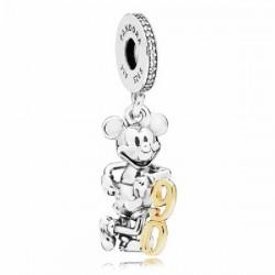 Abalorio Pandora plata 925 y oro 14k Disney - REF. 797497CZ